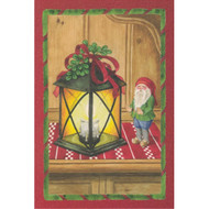 Tomte Nisse and Lantern Christmas Card (66-705)