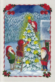 Tomte Nisse and Tree Christmas Card (66-707)