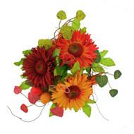 """Gerbera Berry Candlering - Orange - 4"""" (L503-Y7)"""