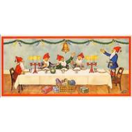 Scandinavian Christmas Poster - Tomtar Julbord Table (BKP01)