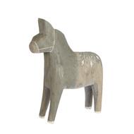 """Wooden Dala Horse - Grey/Medium - 7"""" (81126)"""