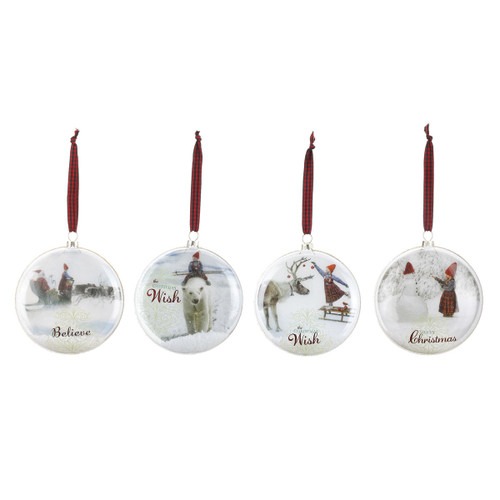The Christmas Wish - Mini Plate Ornaments - Set of 4 (160549)