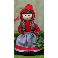 "Butticki Tomte Girl w/Wreath Ornament - 3"" (13158)"