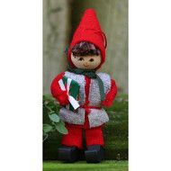 "Butticki Tomte Boy w/Gift Ornament - 3"" (13159)"
