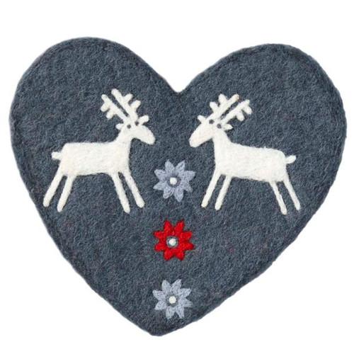 Felt Pot Mat - Reindeer (590924)