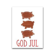 God Jul Pepparkaksgrisar Gift Card (LS10)
