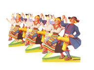 Cutouts/pullout - Dancing Costume Couple (BK-1)