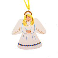"Angel Christmas Ornament - Wooden - 3.5"" (3303)"