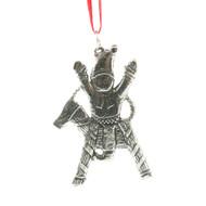 Norwegian Pewter Ornament - Tomte on Julbok (78-3195)