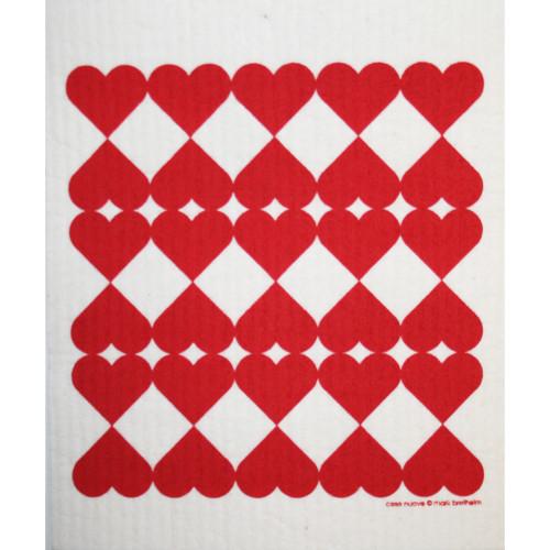 Swedish Dishcloth - Harlequin Hearts (218.25)