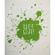 Swedish Dishcloth - Uff da - Green (215G)