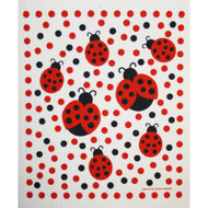 Swedish Dishcloth - Ladybugs (219.37)