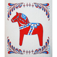 Swedish Dishcloth - Red Dalahorse (86401)