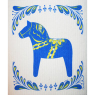 Swedish Dishcloth - Blue Dalahorse (86402)