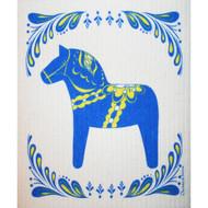 Swedish Dishcloth - Blue Dalahorse (86402)
