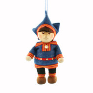 "Saami Boy Ornament - 4"" - Traditional Costume (26249)"