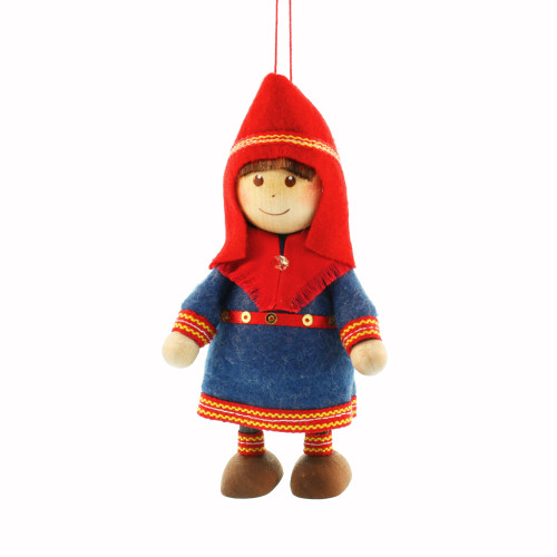 "Saami Girl Ornament - 4"" - Traditional Costume (26250)"