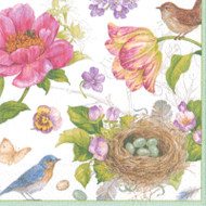 Caspari Spring Sketchbook Paper Luncheon Napkins (13060L)