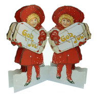 God Jul Girl Paper Cutout (BK-21)