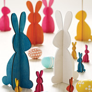 Easter Bunny Decoration - White