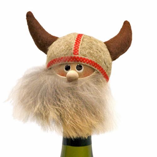 """Viking Bottle Topper - 4"""" - Wooden/Felt (26247)"""