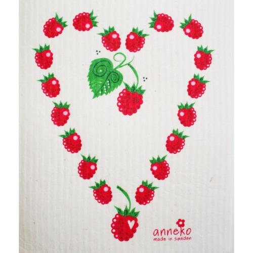 Swedish Dishcloth - Raspberry Heart (DT1609)