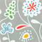 Flower Meadow Grey Paper Luncheon Napkins