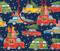 """Gift Bag - Large - Christmas Rush - 10"""" X 11"""" (9702B3)"""