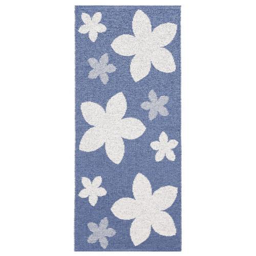 Plastic Rug - Flower - Blue (11403)