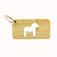 Dala Horse Wooden Key Ring (51201)