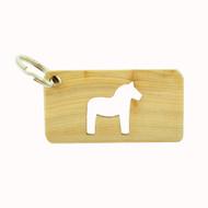 Dala Horse Wooden Key Ring (51201)