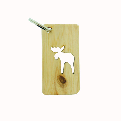 Wooden Moose Key Ring (51202)