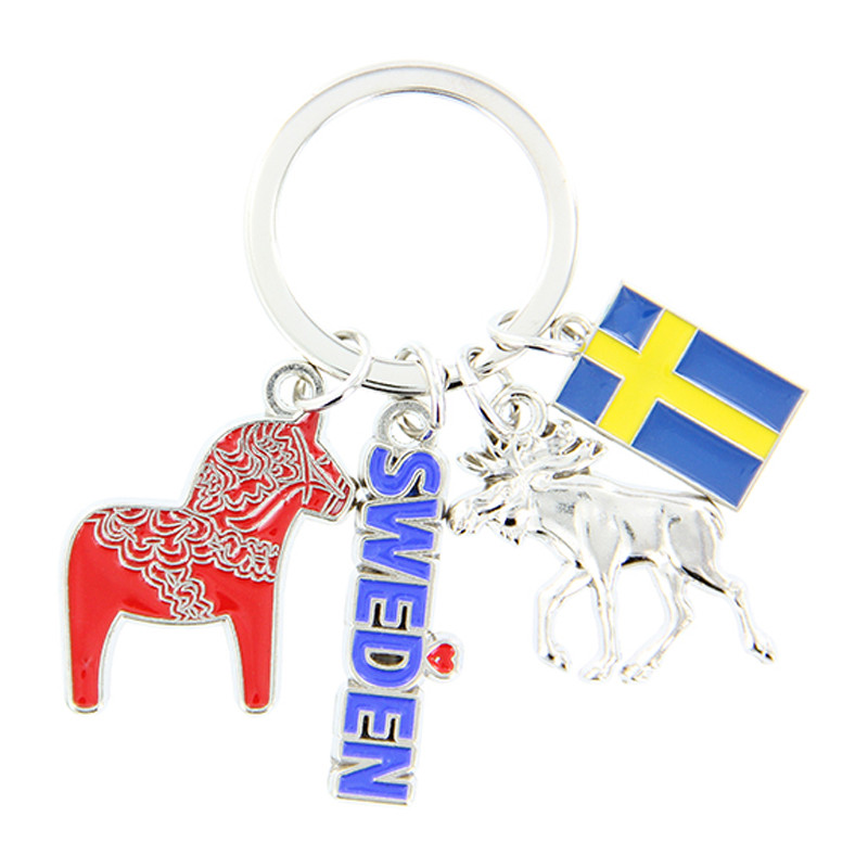 Flag of Sweden Rectangle Keychain Key Ring