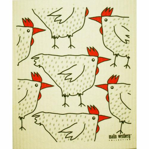 Swedish Dishcloth - Chickens (70671)