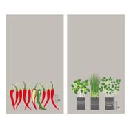 Swedish Dishcloth - Herbs and Chili - Set of 2 (DT1701)