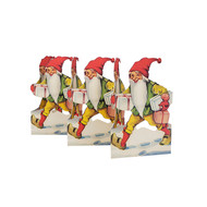 Paper Cutout - Santa-Tomte w/God Jul Gifts (BK-37)