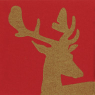 Alpine Stag Red Airlaid Paper Napkins