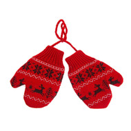 "Nordic Knit Mittens Ornament - 4"" (136300)"