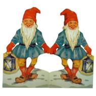 Paper Cutout Santa-Tomte w/lantern (BK-8)