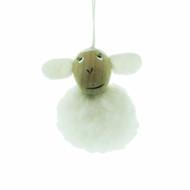 "Lamb Ornament - White - 2"" (84)"