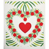 Swedish Dishcloth - Heart Wreath (219.56)