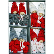 Boys and Girls Tomte Yarn Ornaments - 8 Pack (H1-2063)