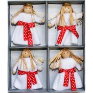 Lucia Girl Felt Ornaments - Boxed Set of 4 (H1-2079)
