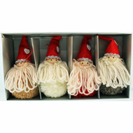 Tomte-Santa Yarn Ornaments - 4 inch - 4 Pack (H1-2356)