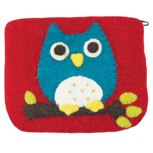 Felt Coin Purse - Owl (22115O)