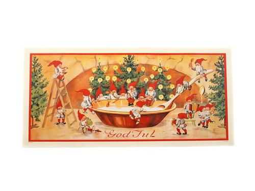 Scandinavian Christmas Poster  - God Jul Santas (BKP15)