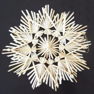 "Straw Star Snowflake Ornament - 7"" - (H1-787)"