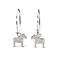 Dala Horse Krystal Round Earrings - Silver (62965)