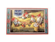 """Swedish Christmas Poster - 17"""" x 27"""" Hay Time in Barn (BKP19)"""