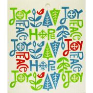 Swedish Dishcloth - Joy, Peace, Hope (56852)